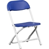 Flash Furniture Kids Blue Plastic Folding Chair
