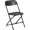 HERCULES Series 800 lb. Capacity Black Plastic Folding Chair