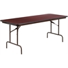 30'' x 72'' Rectangular High Pressure Mahogany Laminate Folding Banquet Table