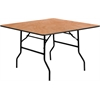 48'' Square Wood Folding Banquet Table