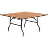 Flash Furniture 60'' Square Wood Folding Banquet Table