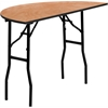 Flash Furniture 48'' Half-Round Wood Folding Banquet Table