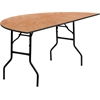 Flash Furniture 72'' Half-Round Wood Folding Banquet Table