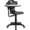 Flash Furniture Black Mobile Task Chair with Swivel Tablet Arm