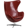 Flash Furniture Cordovan Leather Egg Chair with Tilt-Lock Mechanism