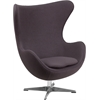Flash Furniture Gray Wool Fabric Egg Chair with Tilt-Lock Mechanism
