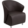 Flash Furniture Dark Brown Leather Reception Chair