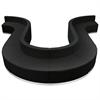 Flash Furniture HERCULES Alon Series Black Leather Reception Configuration, 10 Pieces