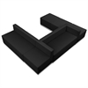 Flash Furniture HERCULES Alon Series Black Leather Reception Configuration, 6 Pieces