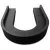 Flash Furniture HERCULES Alon Series Black Leather Reception Configuration, 8 Pieces