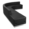 Flash Furniture HERCULES Alon Series Black Leather Reception Configuration, 5 Pieces