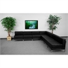 HERCULES Imagination Series Black Leather Sectional Configuration, 7 Pieces