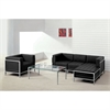 Flash Furniture HERCULES Imagination Series Black Leather Sectional & Chair, 5 Pieces