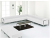 Flash Furniture HERCULES Imagination Series White Leather Sectional & Ottoman Set, 12 Pieces
