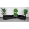 HERCULES Imagination Series Black Leather Sofa & Loveseat Set