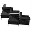 Flash Furniture HERCULES Imagination Series Black Leather 5 Piece Chair & Ottoman Set