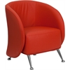 Flash Furniture HERCULES Jet Series Red Leather Reception Chair