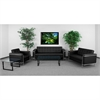 Flash Furniture HERCULES Lesley Series Reception Set in Black