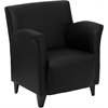 Flash Furniture HERCULES Roman Series Black Leather Reception Chair