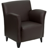 Flash Furniture HERCULES Roman Series Brown Leather Reception Chair